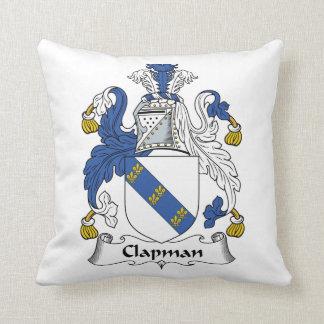 Escudo de la familia de Clapman Cojín