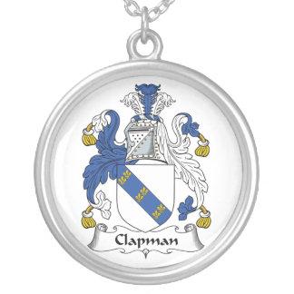 Escudo de la familia de Clapman Colgante Redondo