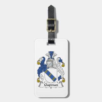 Escudo de la familia de Clapman Etiqueta Para Maleta