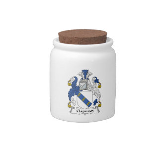 Escudo de la familia de Clapman Platos Para Caramelos