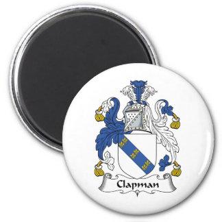 Escudo de la familia de Clapman Imán Redondo 5 Cm