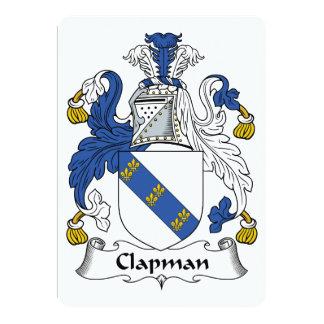 """Escudo de la familia de Clapman Invitación 5"""" X 7"""""""