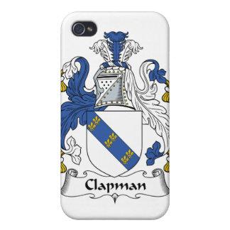 Escudo de la familia de Clapman iPhone 4 Funda