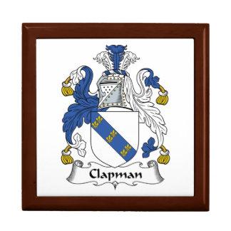 Escudo de la familia de Clapman Joyero Cuadrado Grande