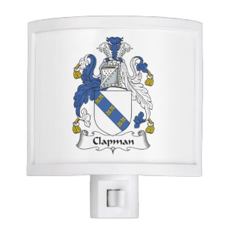 Escudo de la familia de Clapman Lámpara De Noche