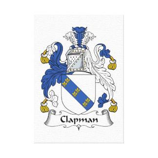 Escudo de la familia de Clapman Impresiones En Lienzo Estiradas
