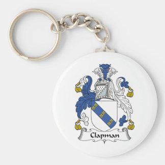 Escudo de la familia de Clapman Llavero Redondo Tipo Pin