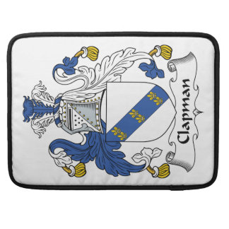 Escudo de la familia de Clapman Fundas Para Macbooks
