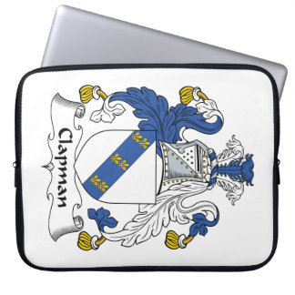 Escudo de la familia de Clapman Mangas Portátiles