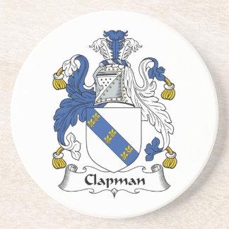 Escudo de la familia de Clapman Posavasos De Arenisca