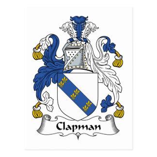 Escudo de la familia de Clapman Postales