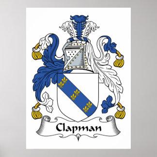 Escudo de la familia de Clapman Póster