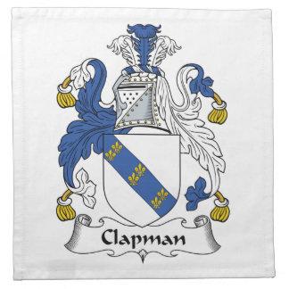Escudo de la familia de Clapman Servilletas De Papel