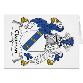 Escudo de la familia de Clapman Tarjeta De Felicitación