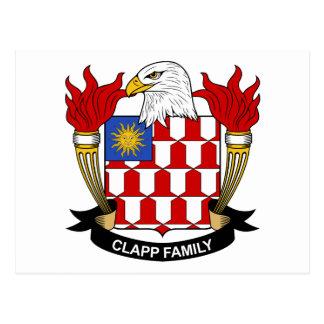 Escudo de la familia de Clapp Postales