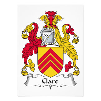 Escudo de la familia de Clare Invitación Personalizada