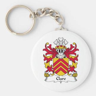Escudo de la familia de Clare Llavero Redondo Tipo Pin