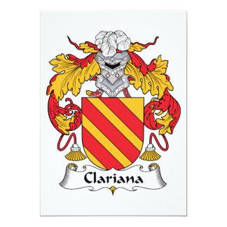 Escudo de la familia de Clariana Invitaciones Personales
