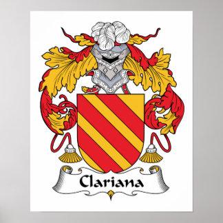 Escudo de la familia de Clariana Posters