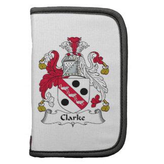 Escudo de la familia de Clarke Organizador