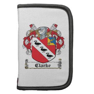 Escudo de la familia de Clarke Planificador