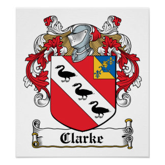 Escudo de la familia de Clarke Póster