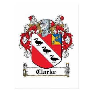 Escudo de la familia de Clarke Tarjetas Postales