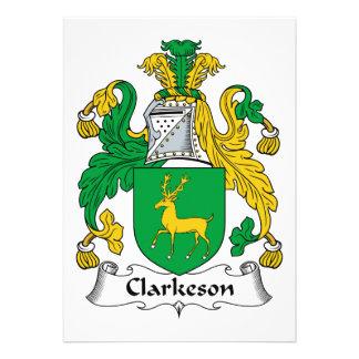 Escudo de la familia de Clarkeson Comunicados Personales