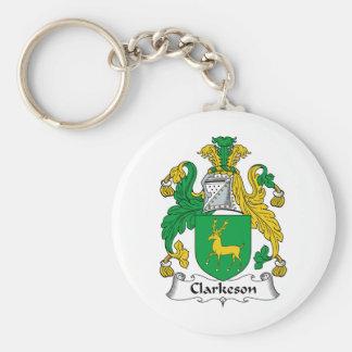 Escudo de la familia de Clarkeson Llaveros