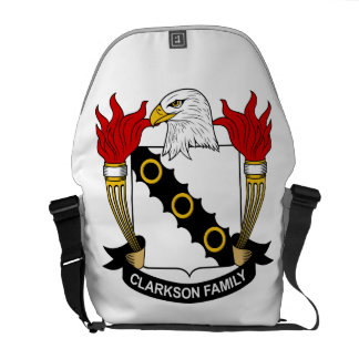Escudo de la familia de Clarkson Bolsas De Mensajeria