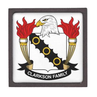 Escudo de la familia de Clarkson Cajas De Joyas De Calidad