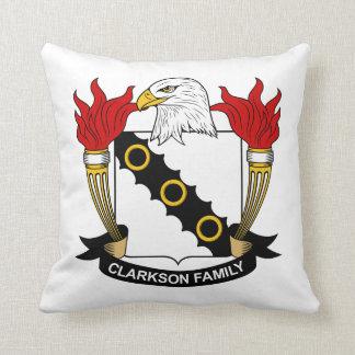 Escudo de la familia de Clarkson Cojin