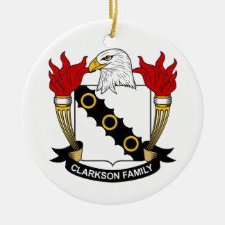Escudo de la familia de Clarkson Ornamento Para Arbol De Navidad