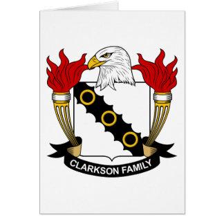 Escudo de la familia de Clarkson Felicitacion