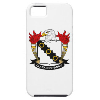Escudo de la familia de Clarkson iPhone 5 Case-Mate Funda