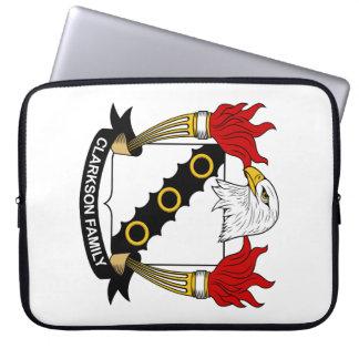 Escudo de la familia de Clarkson Fundas Portátiles