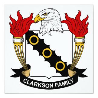 Escudo de la familia de Clarkson Invitación Personalizada