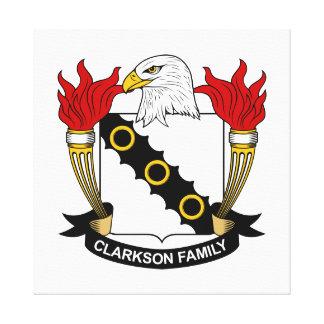 Escudo de la familia de Clarkson Impresiones En Lona