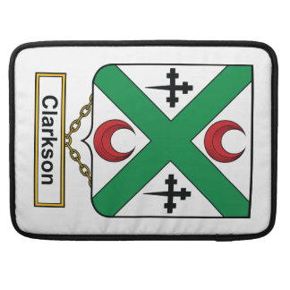 Escudo de la familia de Clarkson Funda Para Macbooks