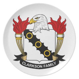 Escudo de la familia de Clarkson Platos De Comidas