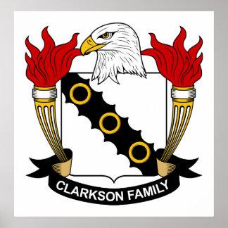 Escudo de la familia de Clarkson Posters