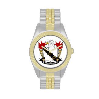 Escudo de la familia de Clarkson Reloj De Mano