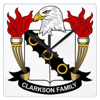 Escudo de la familia de Clarkson Relojes