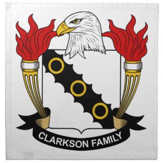 Escudo de la familia de Clarkson Servilleta Imprimida