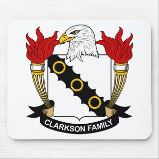 Escudo de la familia de Clarkson Alfombrillas De Ratones