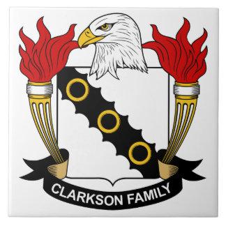 Escudo de la familia de Clarkson Teja Cerámica