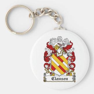 Escudo de la familia de Clausen Llavero Personalizado