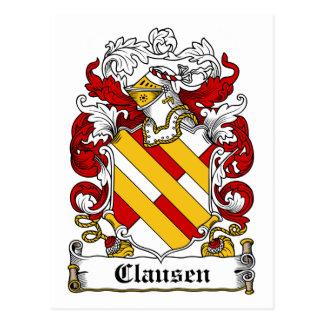 Escudo de la familia de Clausen Tarjetas Postales