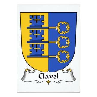 """Escudo de la familia de Clavel Invitación 5"""" X 7"""""""
