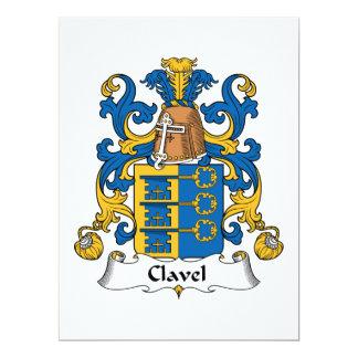 """Escudo de la familia de Clavel Invitación 6.5"""" X 8.75"""""""